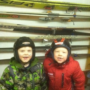 They were SO excited to get their skis.