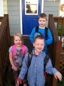 My kindergartener and 2 second graders